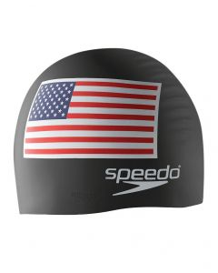 Speedo USA Flag Silicone Cap